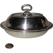 Elegant Sheffield Silverplate Hollowware Small Covered Dish