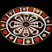 """Large Royal Crown Derby Imari 1128 Platter 17"""""""