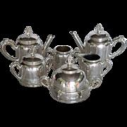 Aesthetic Movement Victorian Pairpoint Mfg. Co. Quadruple Plate 6 pc Tea Breakfast Set 306
