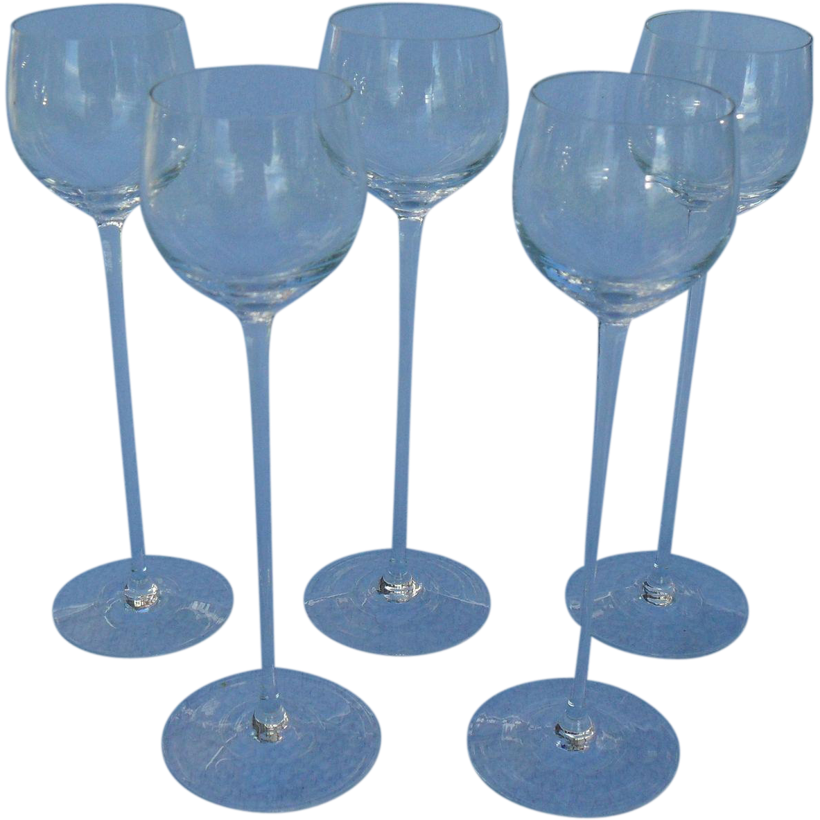 Riedel exquisit mid century cordial wine glass 5 from for Thin stem wine glasses