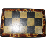 Antique Faux Tortoiseshell Checkerboard Snuff Box