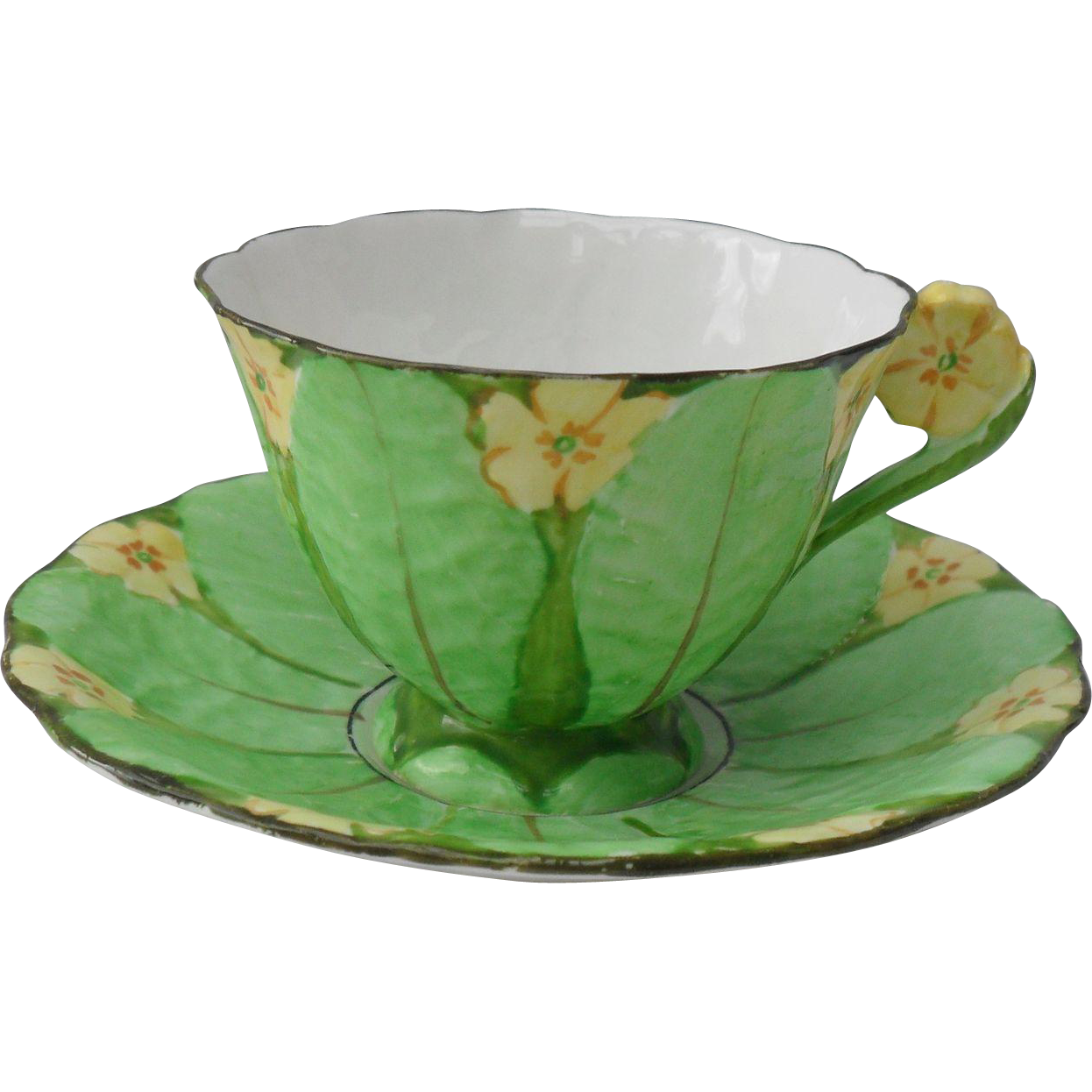 vintage grimwades rideau ware yellow primrose figural handle teacup from rubylane sold on ruby lane. Black Bedroom Furniture Sets. Home Design Ideas
