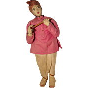 Vintage Cloth Doll In Regional Clothes - India