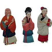 Vintage Paper  and Cloth Oriental Dolls
