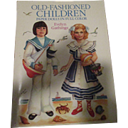 Old Fashioned Children Paper Dolls in Full Color