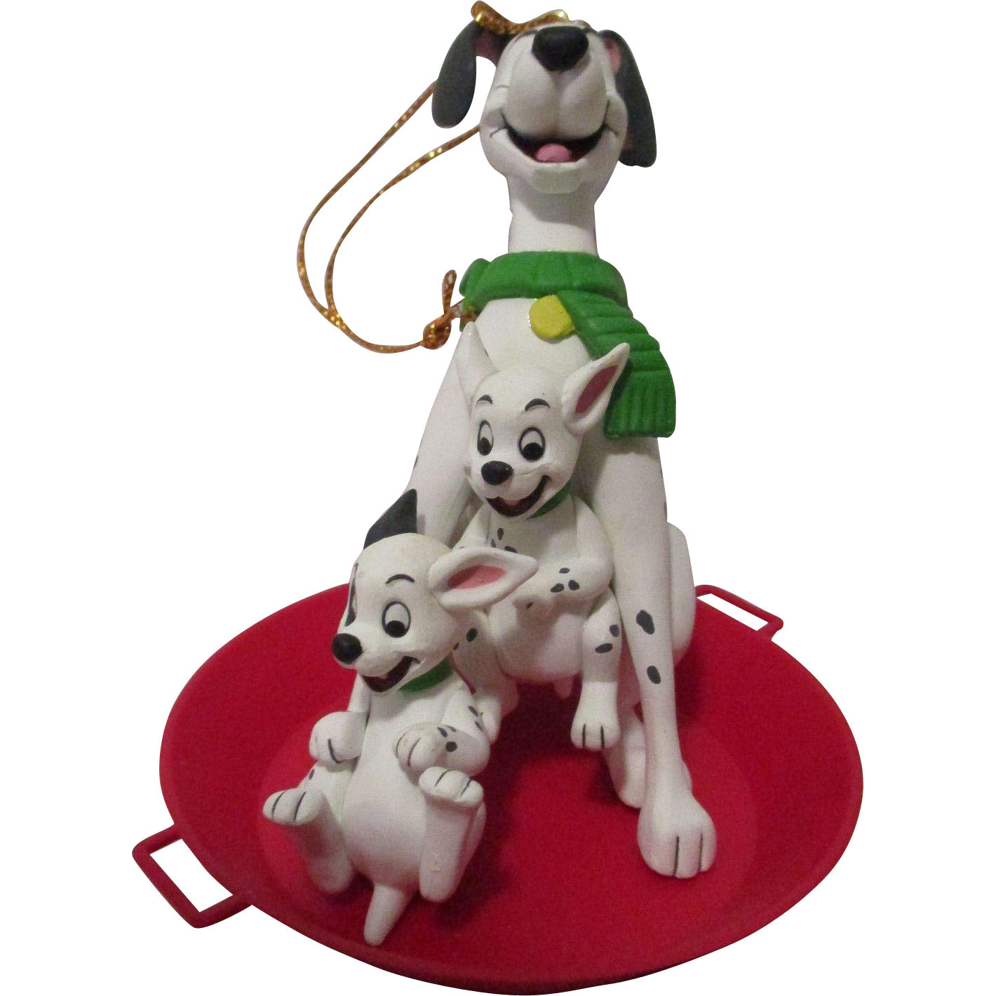 Vintage Disney 101 Dalmatians Christmas Ornament : Attic Angel ...