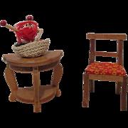 Vintage Miniature Doll House Furniture