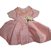Vintage Pink Satin Type Dress For Your Doll