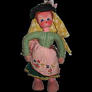 Vintage Portugal Cloth Doll