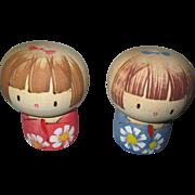 Vintage Wooden Japan Dolls
