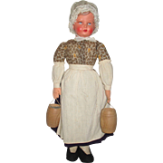 Vintage Celluloid Doll in her original regional outfit.