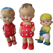 Vintage Sun Rubber, Iwai, Mobley Dolls.