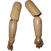 Antique Pair Of Composition Doll Arms.