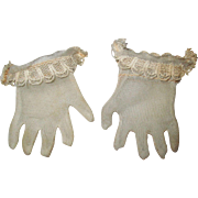 Vintage Pair of Doll Hand Gloves.