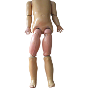Antique German Composition Doll Body
