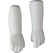 Antique Bisque White Doll Hands For Your Doll.