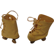 Vintage Cloth and Metal Roller Skates For Your Doll