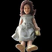 Vintage Composition Deanna Durbin Doll For Repair or Parts