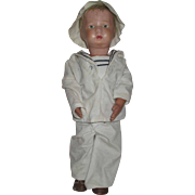 Antique Schoenhut Boy Walkable Doll