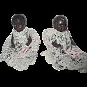 Vintage German Black Celluloid Dolls