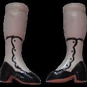 Vintage Porcelain Doll Legs