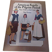Vintage American Family Of The Pilgrims Period Paper Dolls In Full Color By Tom Tierney