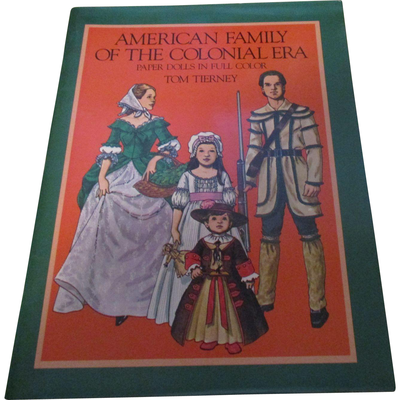 Tom tierney colonial fashions paper dolls - Vintage American Family Of The Colonial Era Paper Dolls Kin Full Color By Tom Tierney