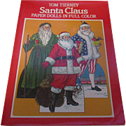 Vintage Santa Clause Paper Dolls in Full Color By Tom Tierney