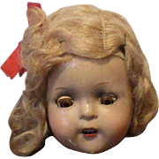 Vintage Composition Doll Head.