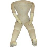 Cloth Doll Body with Leather Hands.