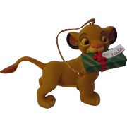 Vintage Disney Simba Christmas Ornament