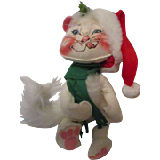 Vintage Anna Lee Christmas Cat