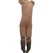 Antique Pink Leather Doll Body