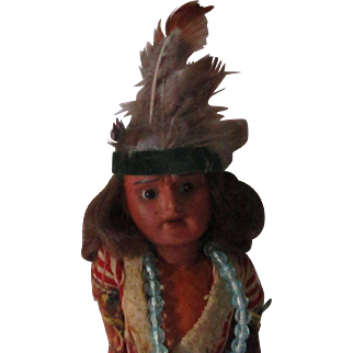 Antique German Indian Doll