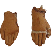 Antique Leather Doll Hands