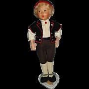 Vintage Baltz Whistling Boy Doll