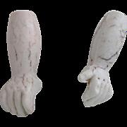 Antique Bisque Doll Hands