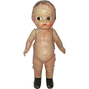 Vintage Composition Kewpie Style  Doll For Repair