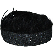 Vintage Handmade Feather 1920's Style Headband Hat For Your Doll