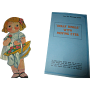 Vintage Dolly Dingle with Moving Eyes Paper Doll Card
