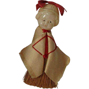 Vintage Celluloid Brush Doll