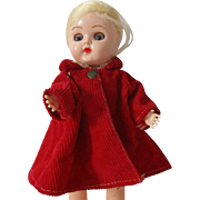 Vintage Red Corduroy Coat For Your Ginny