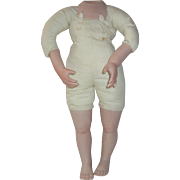 Vintage Cloth and Porcelain Doll Body