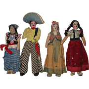 Group Of Vintage Dolls In Regional Outfits