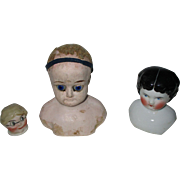 Group of Antique Doll Heads