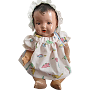 Antique Composition Baby Doll That Drinks And Wets.