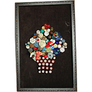 Vintage Picture Made Of Button
