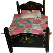 Vintage Wooden Doll Bed For Your Doll House