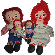 Vintage Raggedy Ann and Andy Dolls - Red Tag Sale Item