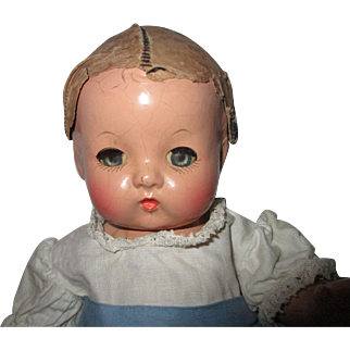 Vintage Composition Effanbee Patsy Babyette Doll In Original Clothes.